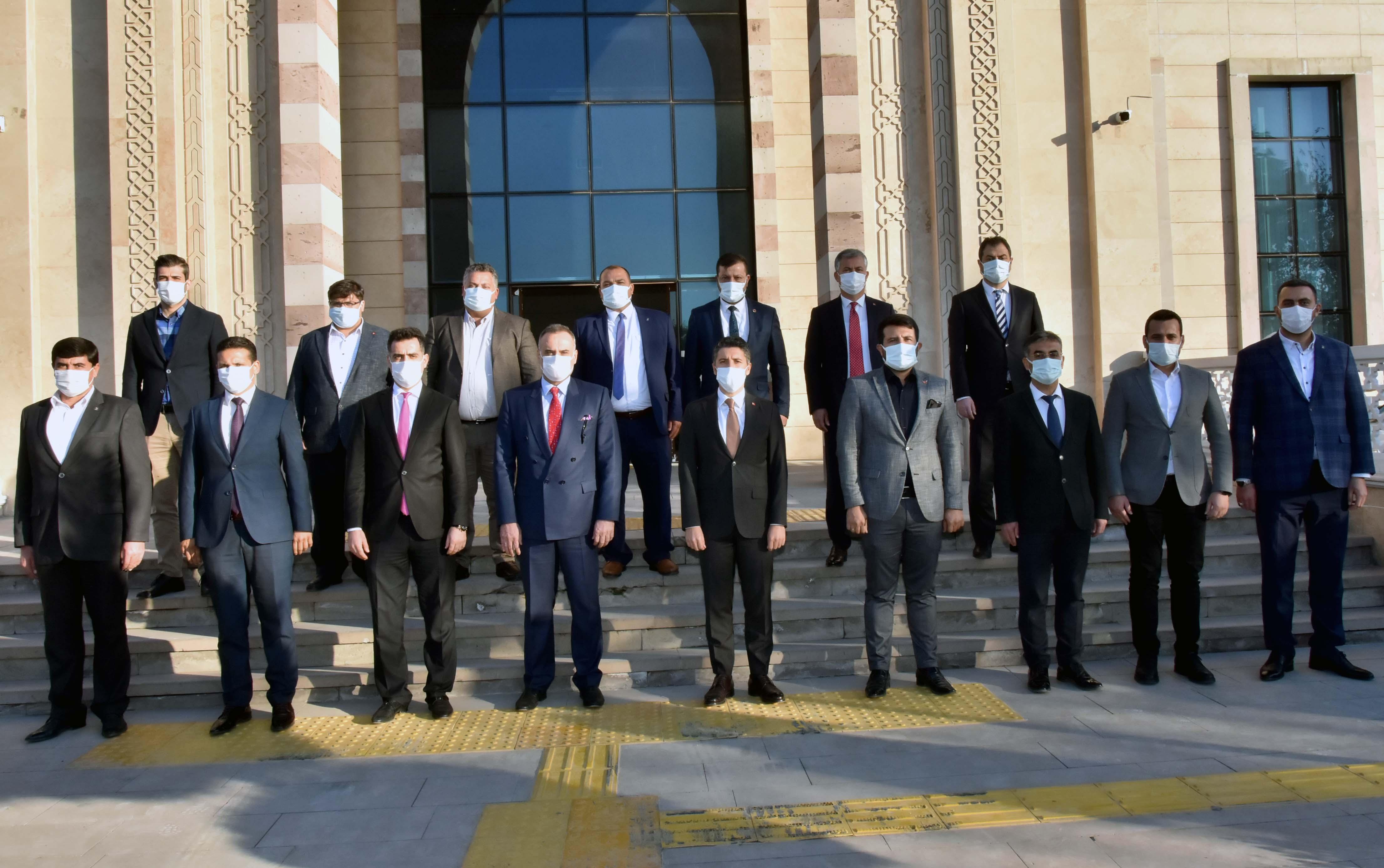 Başkan Mehmet Ay, 15 ilçe başkanıyla yılın son toplantısını yaptı
